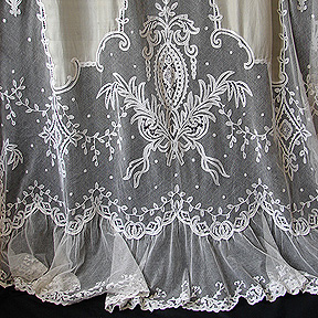 lace with touch curtain of panel class antique carly valance curtains c
